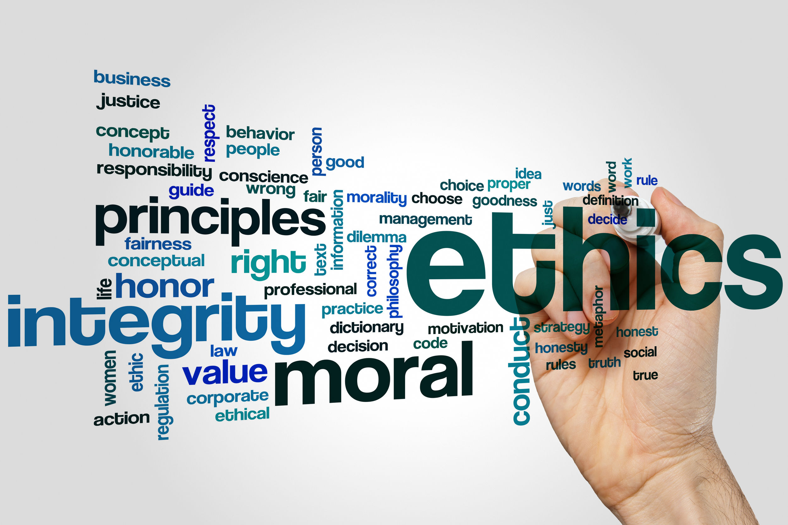 Ethics wordcloud